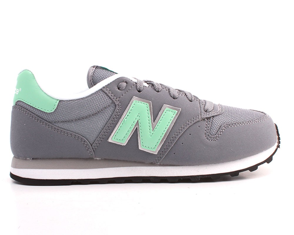 new balance mujer gris con verde